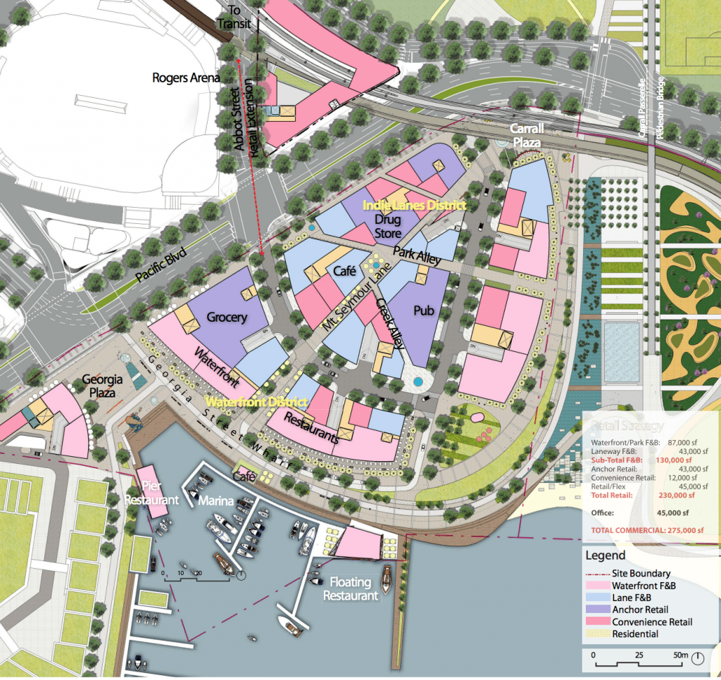 NEFEC Waterfront Entertainment District retail plan