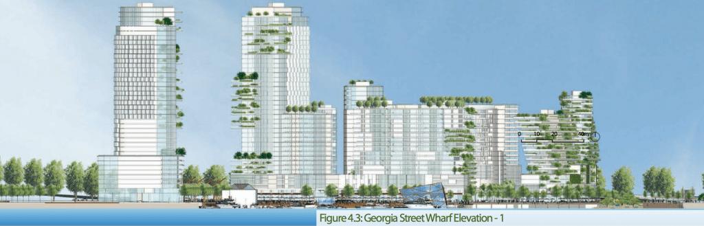 Georgia Street Wharf Elevation