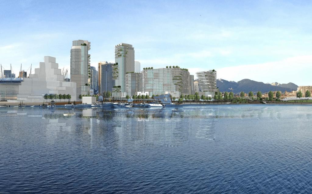 NEFEC Waterfront Entertainment District view north