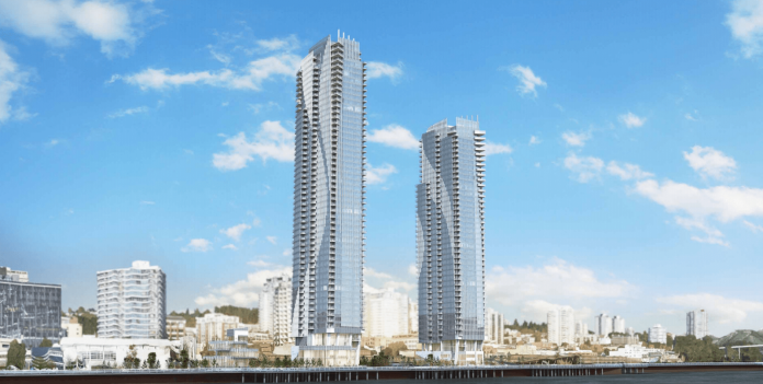 Bosa New Westminster Pier Park towers
