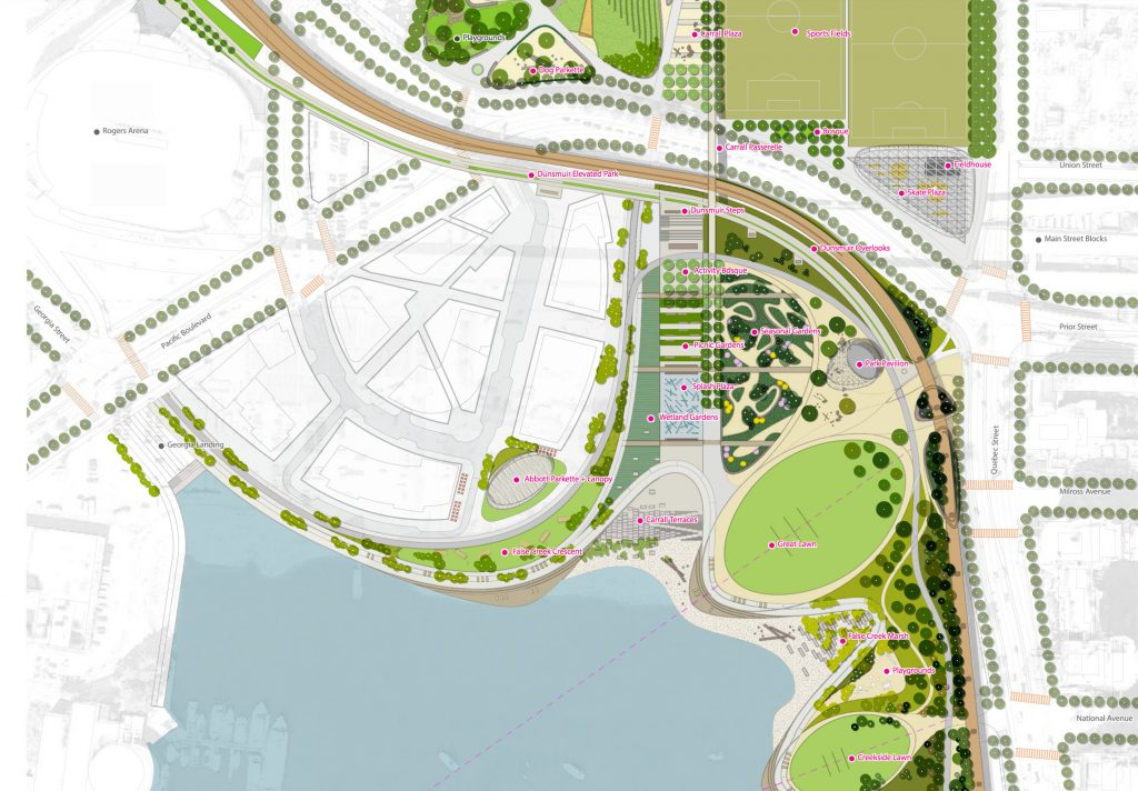 First look at design for long-awaited Northeast False Creek park
