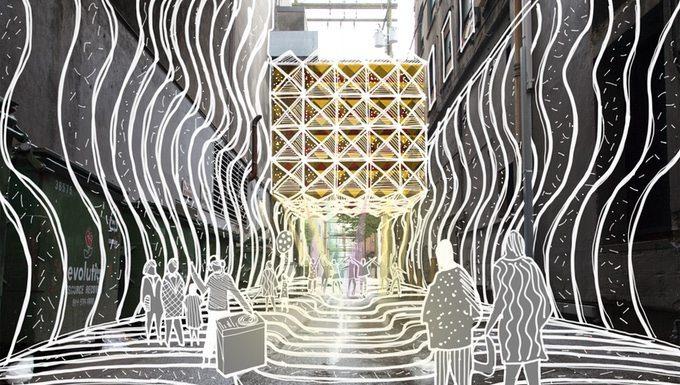 Art installation laneway
