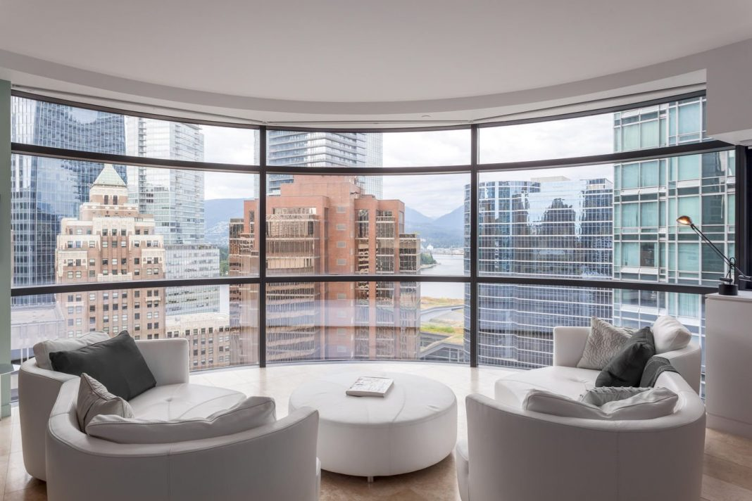 Jameson House curved living room