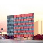 Colourful office building proposed for False Creek Flats