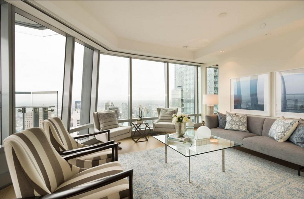 Trump Tower Vancouver listing - living room