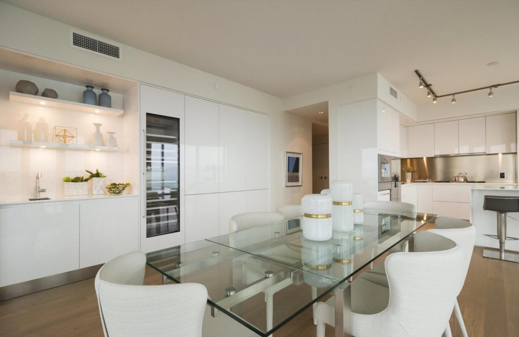 Trump Tower Vancouver listing - sideboard