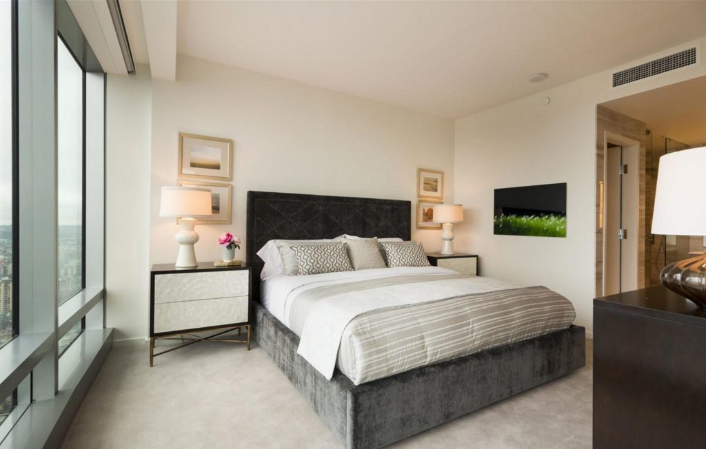 Trump Tower Vancouver listing - master bedroom