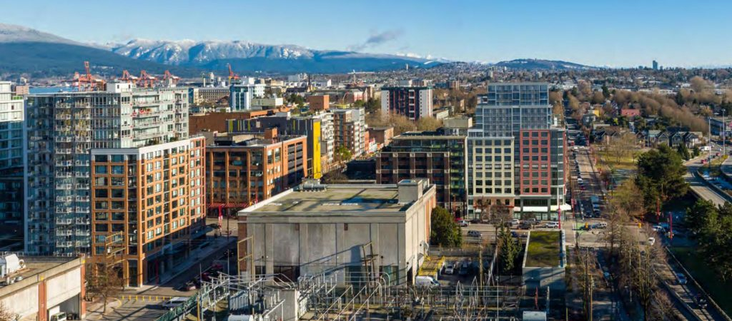 Rendering of Brickhouse proposal, looking east