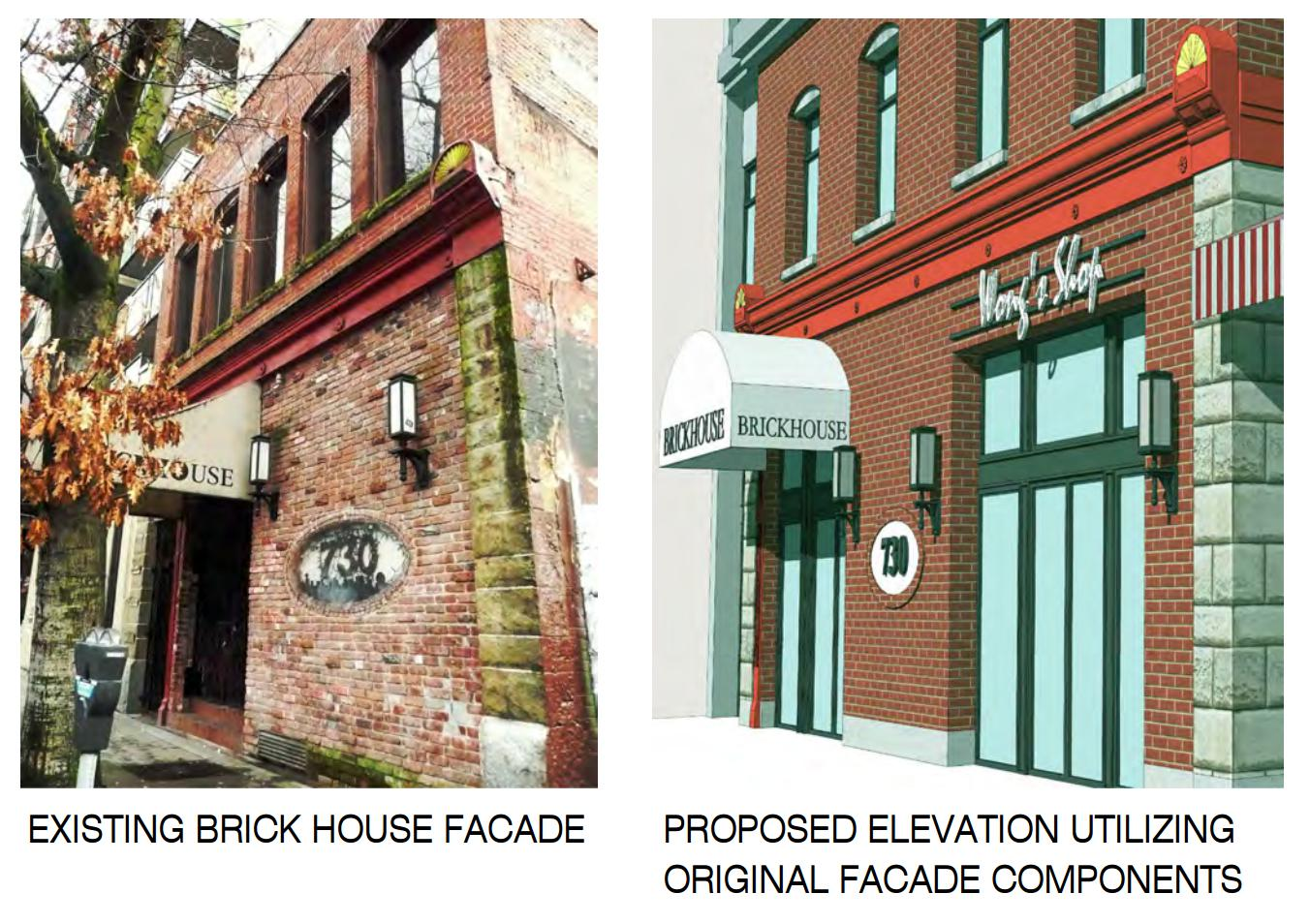 Brickhouse bar facade