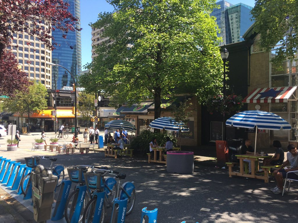 Summer public plaza now open at Bute and Robson