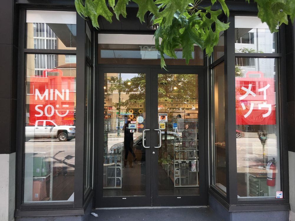 MINISO Vancouver storefront