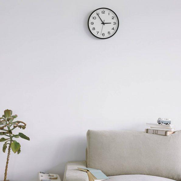 Wall clock and MUJI sofa