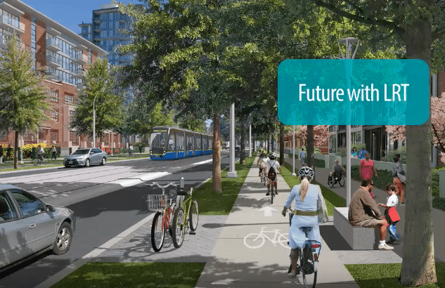 Surrey shows off plans for 27 kilometre LRT line