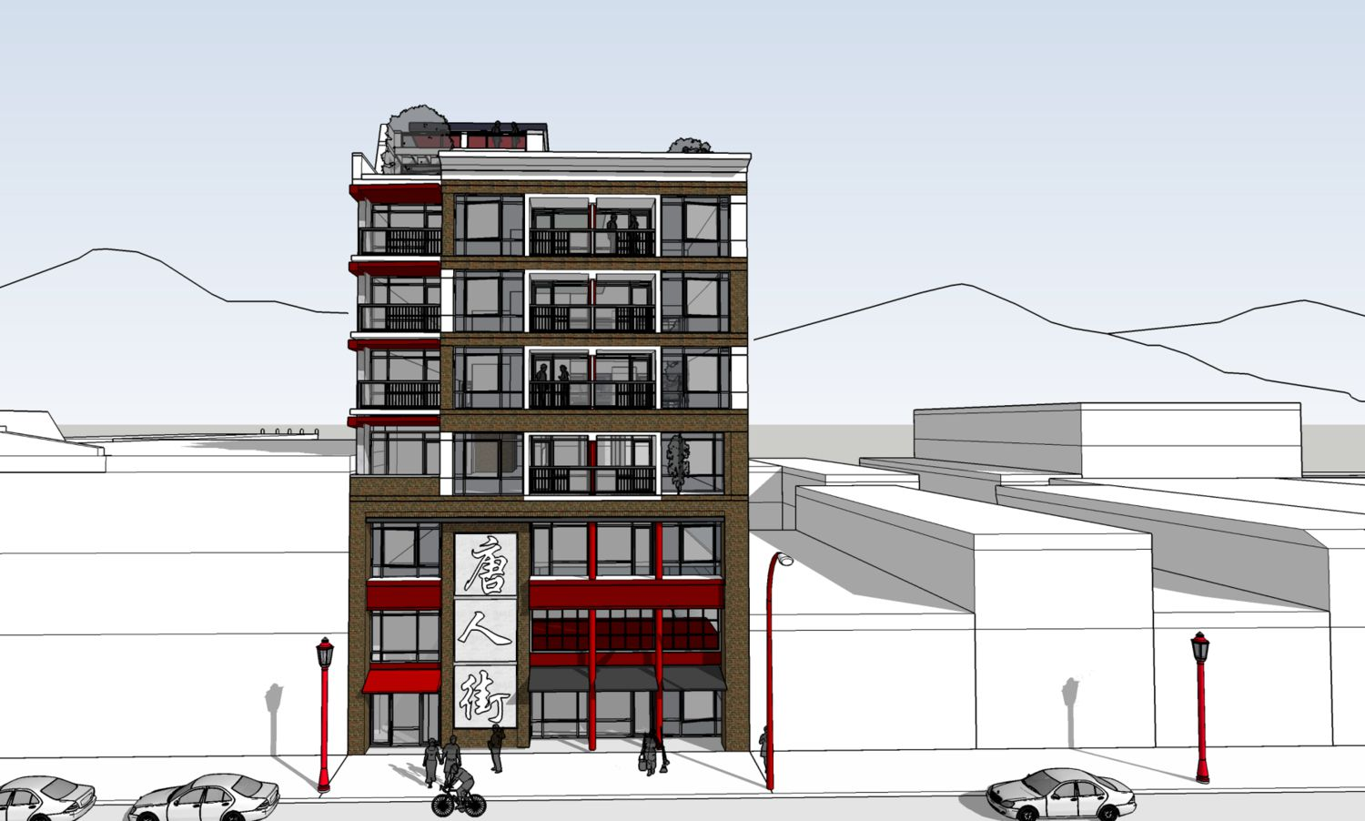 Eight-storey office, residential building proposed for Chinatown