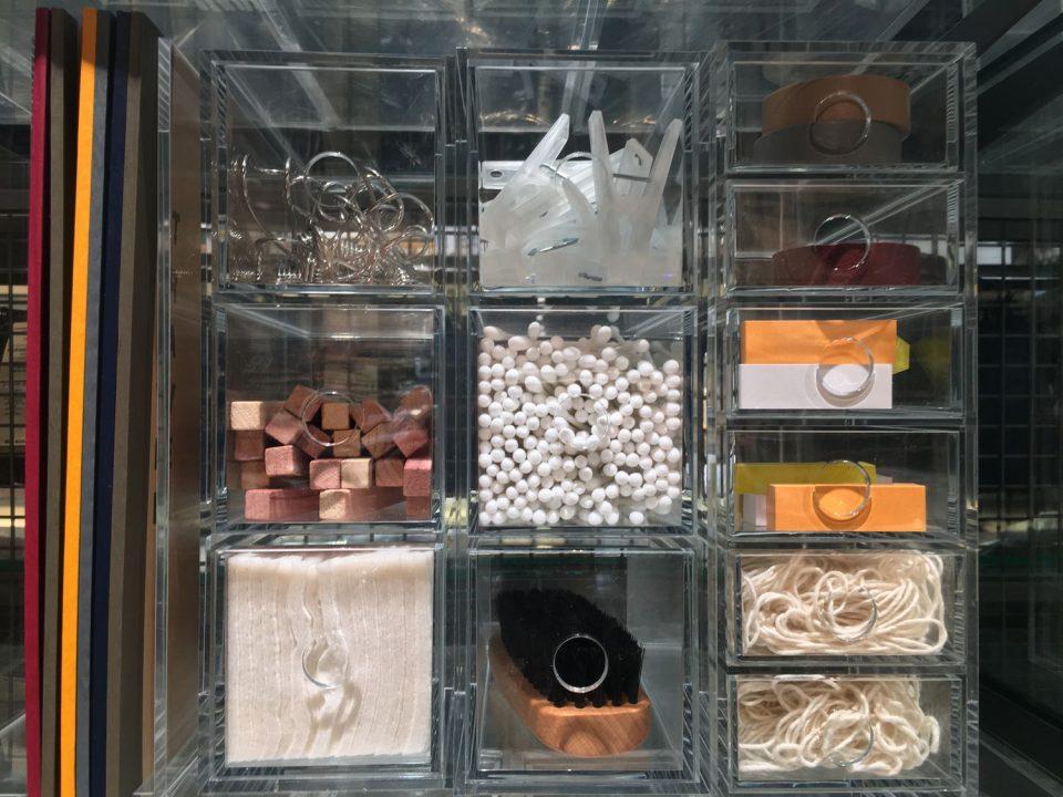 MUJI clear plastic organizers