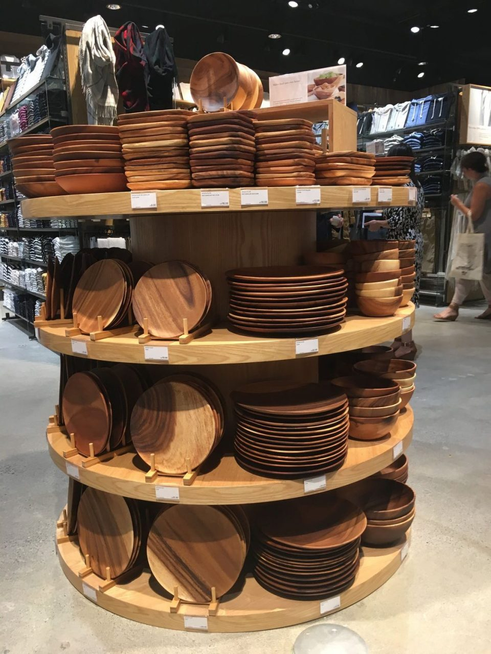 Wood serving dishes.