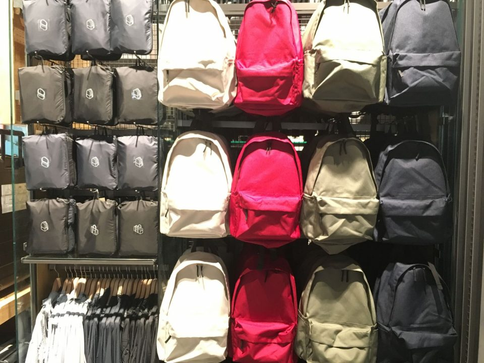 MUJI back packs