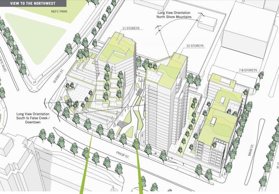NEFC 800 Main development West Block northwest view