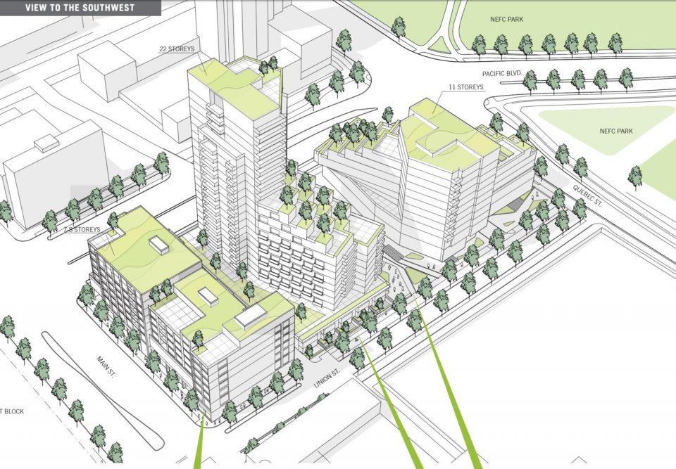 NEFC 800 Main development West Block plan
