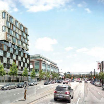 1619-1651 East Broadway rendering looking east