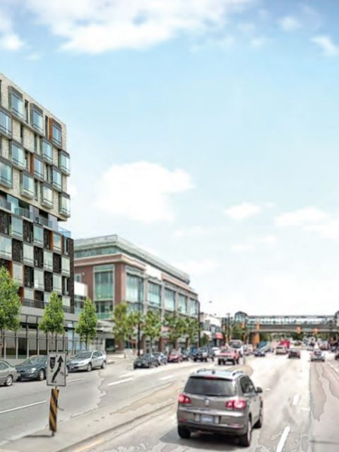 1619-1651 East Broadway rendering looking east