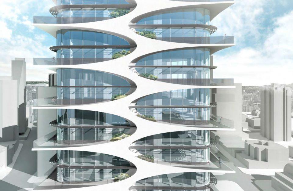 Weave pattern of facade