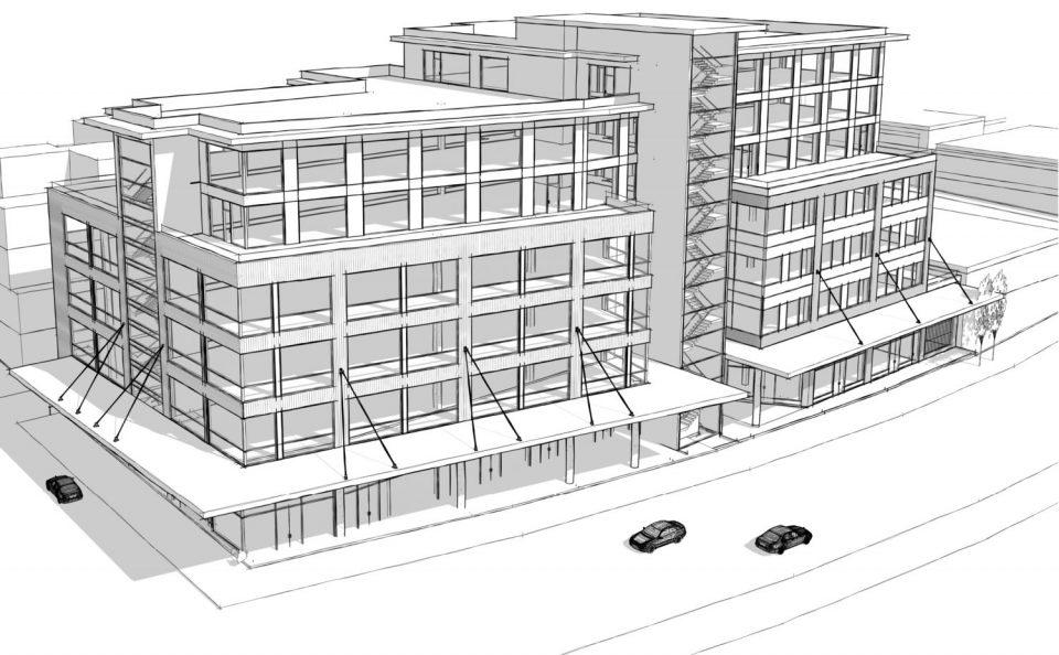 450-494 Railway rendering street front