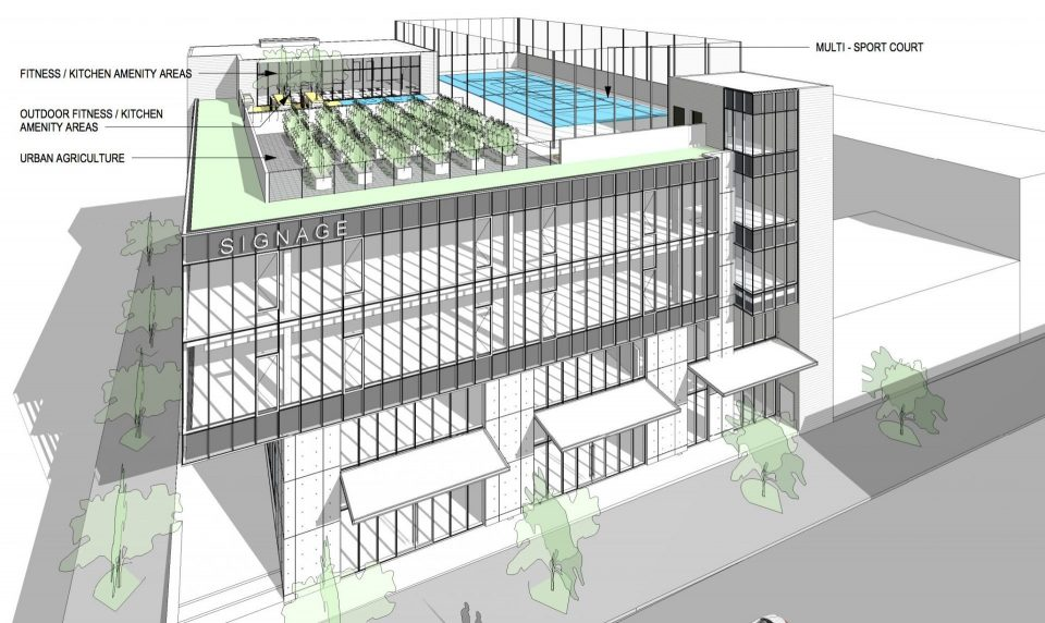 Wesgroup plans new office building with rooftop sports for How to build a sport court