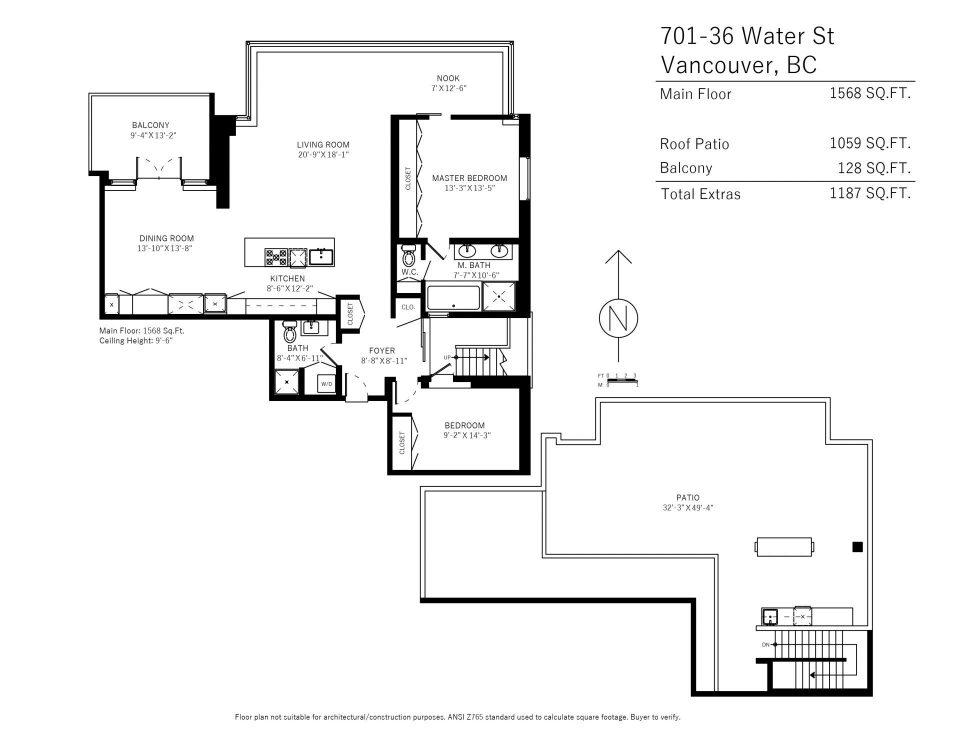 701-36 Water Street Terminus penthouse floor plan