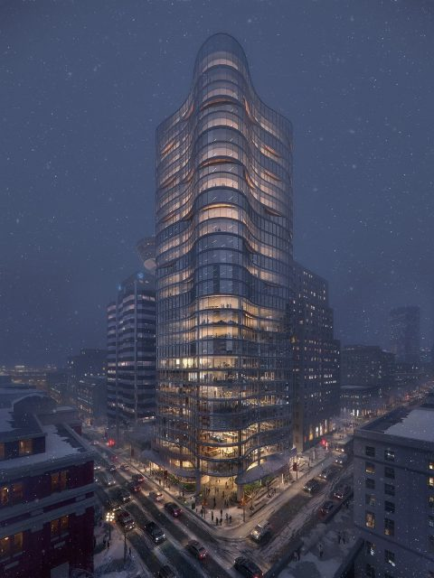 Bosa Waterfront Centre office tower to replace tired, old parkade