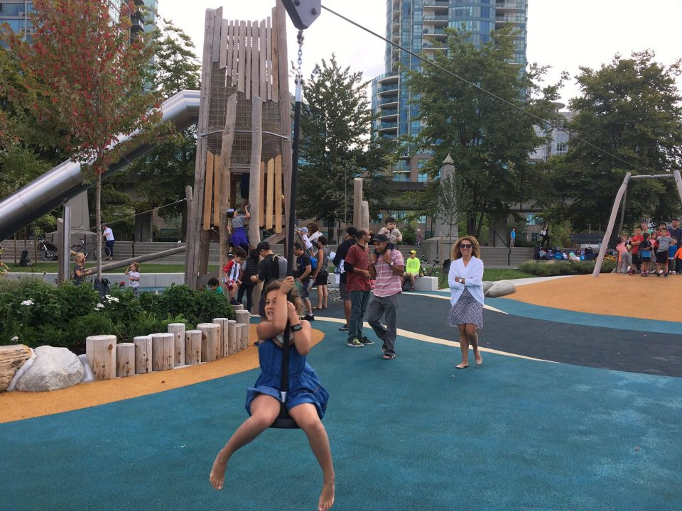 Creekside Park with 22-metre zipline now open near Science World