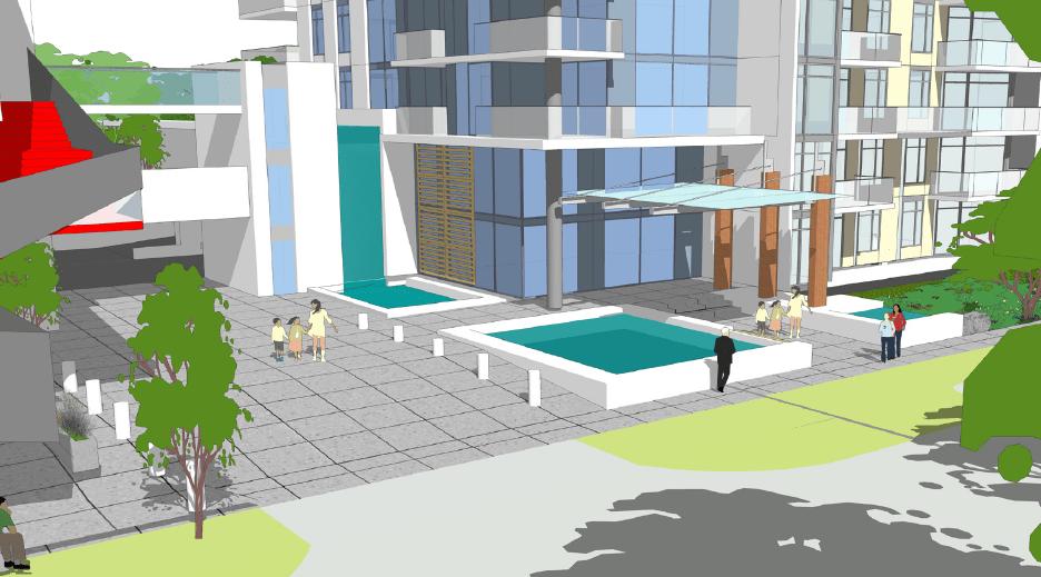 1401 Hunter lobby entrance rendering