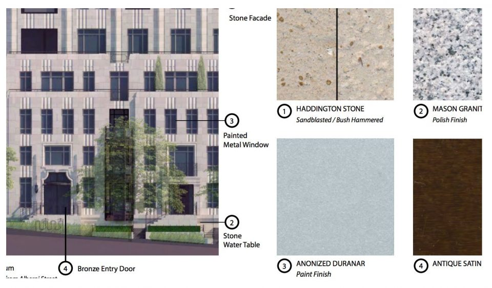 1444 Alberni façade materials