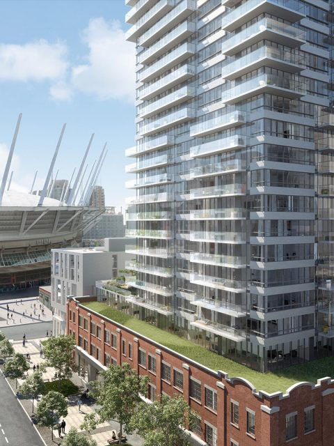 New renderings of upcoming Amacon development at 150 Robson St.