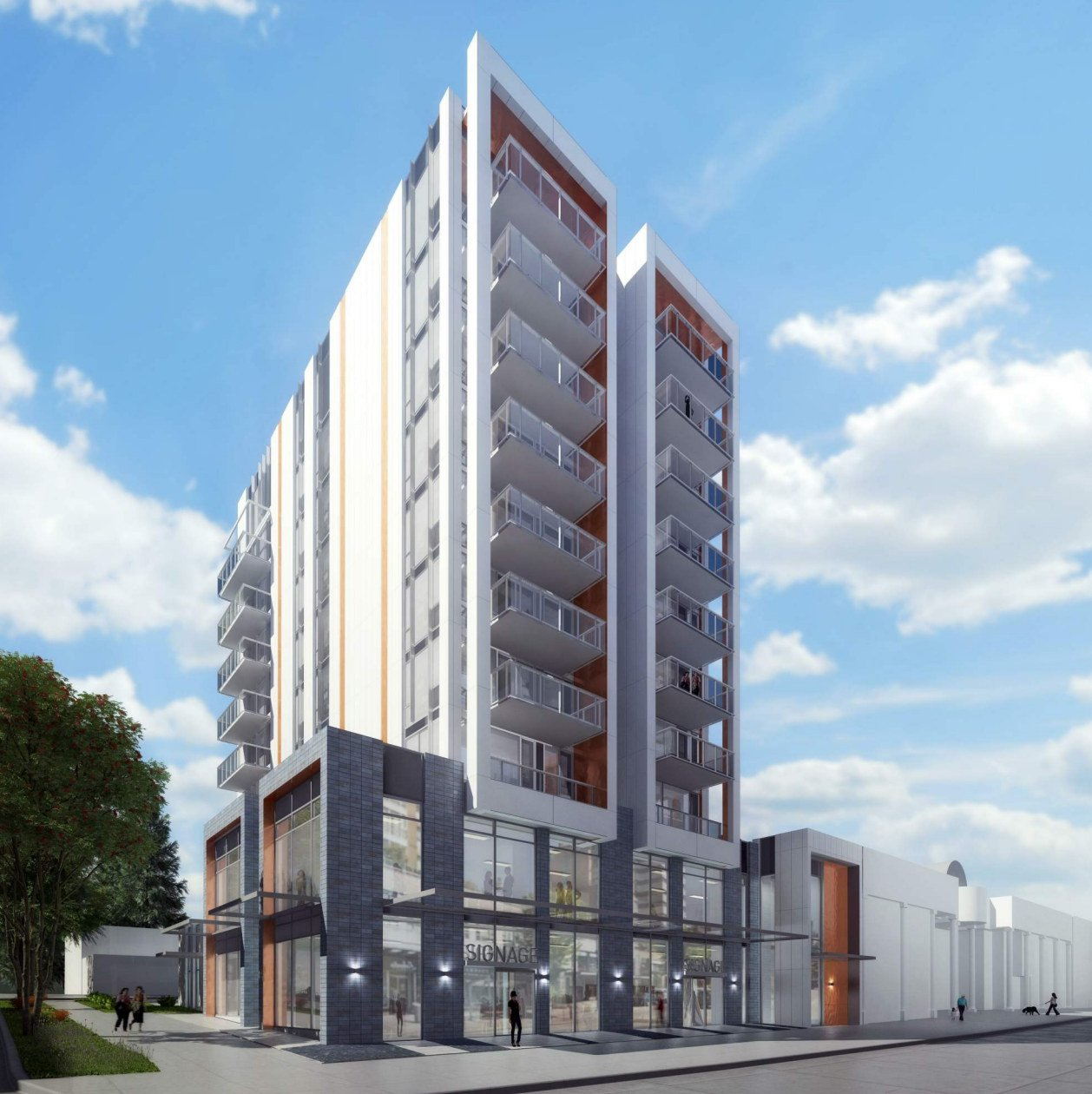 10-storey building proposed for West Broadway and Spruce