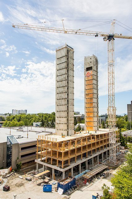UBC Brock Commons Tall Wood Building construction progress
