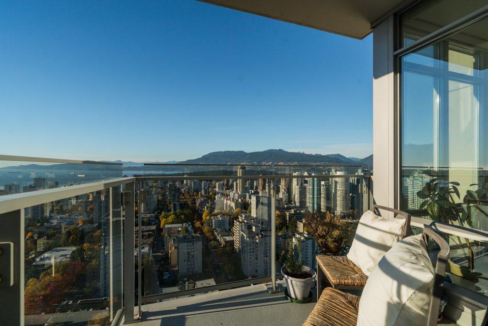 3603 - 1028 Barclay Street Patina balcony