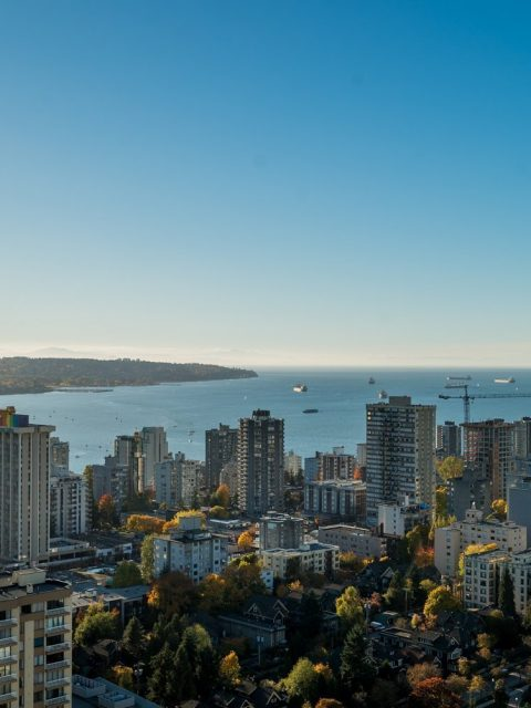 Luxury condo in Patina with panoramic English Bay views for sale