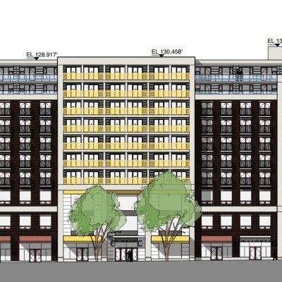58 West Hastings Social Housing building drawing