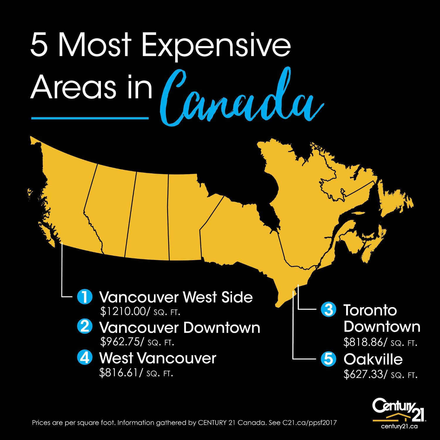 Canada Most Expensive Real Estate Market 2017