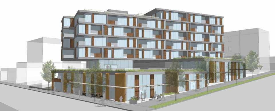 Elenore on Fifth Chard building rendering