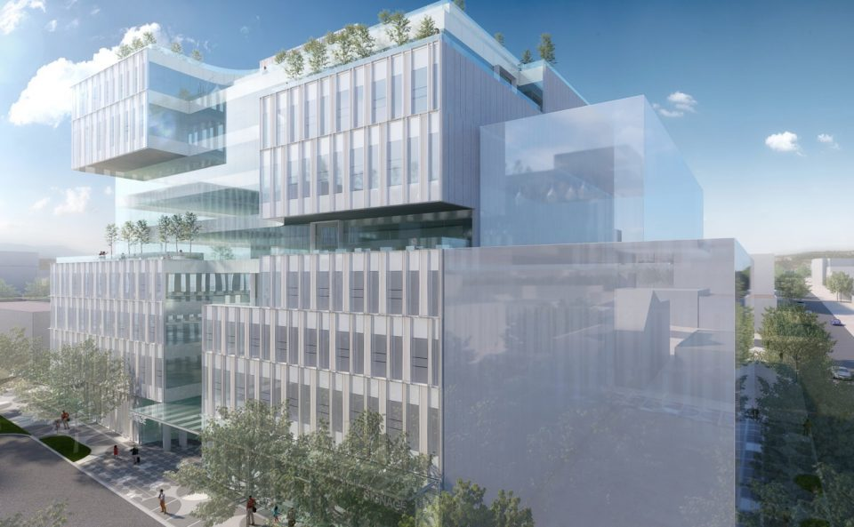 Henriquez Partners Architects Westbank 110 East 5th Ave. Hootsuite rendering