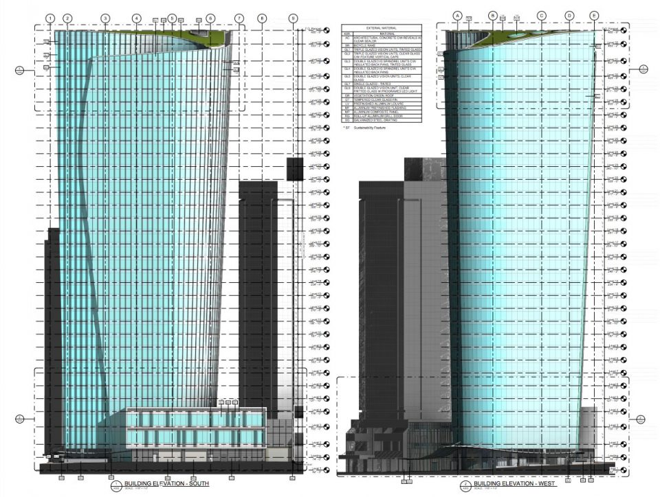 1090 West Pender Bentall Kennedy office tower profile