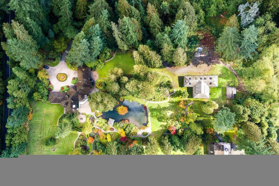 2250 Indian River Crescent North Vancouver aerial view