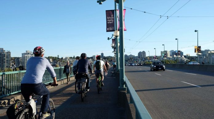Current Cambie Street cycling conditions