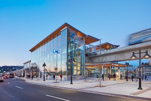 Lincoln Station on the Evergreen Line was funded using a similar partnership strategy. Credit: Perkins + Will
