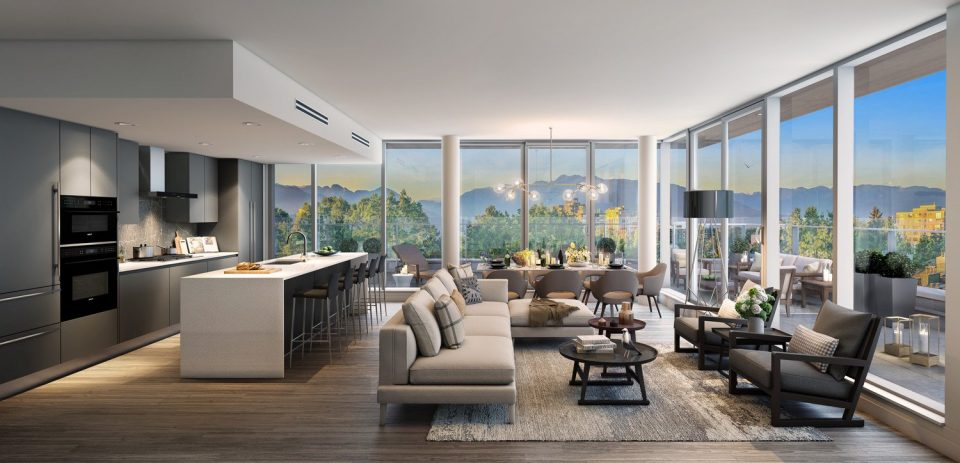 Penthouse interior rendering 2017
