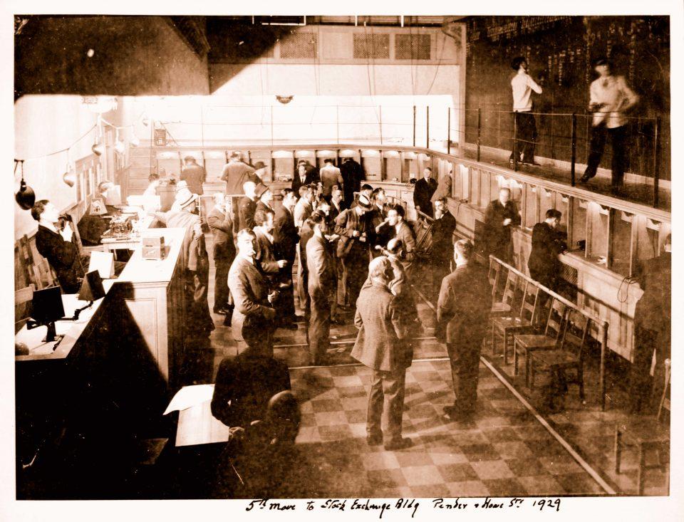 Historic Trading Floor 1929