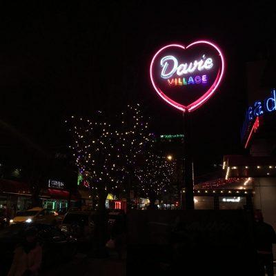 'Heart of Davie Village' neon sign