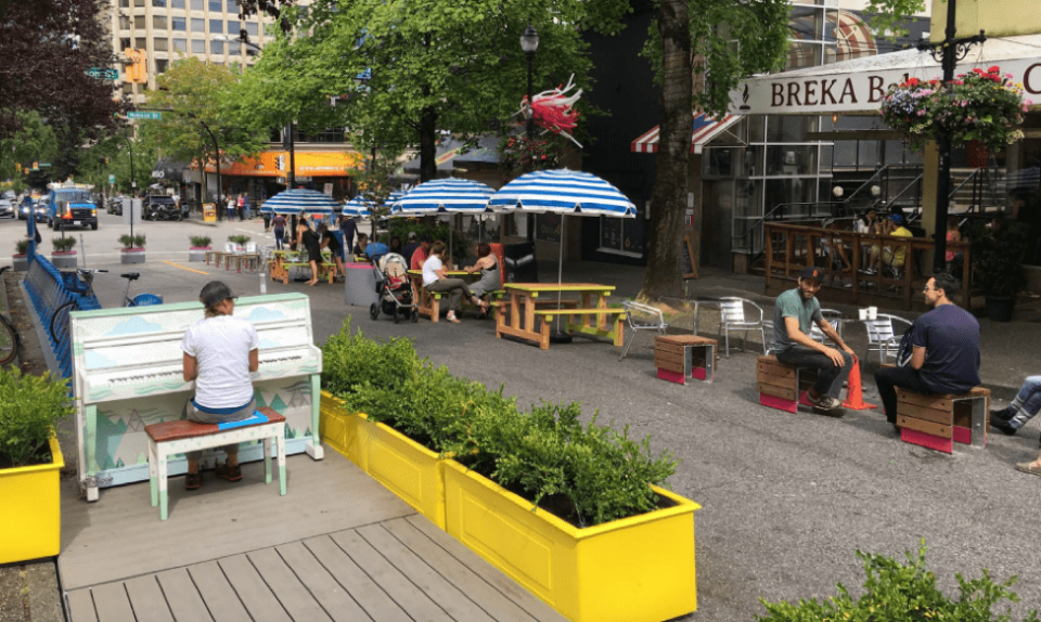 Bute-Robson trial plaza in West End to become permanent